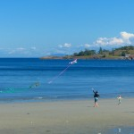 Sand Beach steps away form sites