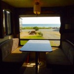 View of the Ocean front from RV Unit at Weir's Beach RV resort in Victoria BC
